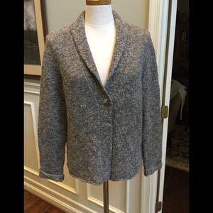J. Jill Sweaters - J Jill gray and white cardigan sweater